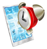 Alarm clock icon phone concept Stock Images