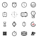 Alarm clock icon sets  symbol. Royalty Free Stock Photos