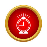 Alarm clock icon in simple style Royalty Free Stock Image