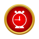 Alarm clock icon in simple style Stock Photography