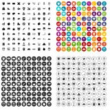 100 alarm clock icons set vector variant. 100 alarm clock icons set vector in 4 variant for any web design isolated on white Royalty Free Stock Images