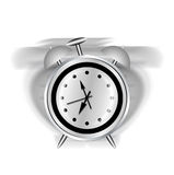 Alarm clock. Illustration of a classic alarm clock ringing on white background Royalty Free Stock Images