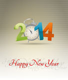 2014 alarm clock. Illustration of 2014 text with alarm clock Stock Images