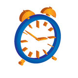 Alarm clock illustration. With white background Stock Images