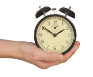 Alarm Clock In Hand Stock Images