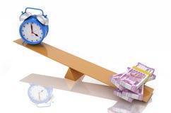 Alarm clock with Indian Rupee Stock Photos