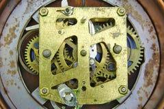 Alarm clock inside mechanism Stock Photos