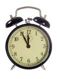Alarm-clock isolated, 5 to 12 Stock Image