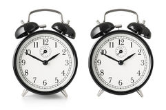 Alarm clock isolated with clipping path included Stock Image