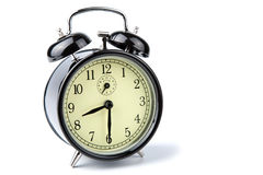 Alarm clock isolated over white Stock Images