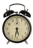 Alarm clock isolated on white Royalty Free Stock Photo