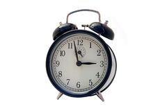 Alarm clock isolated on white Royalty Free Stock Photo