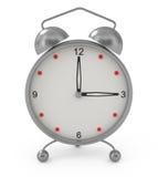 Alarm clock isolated on white. 3d illustration Stock Photos