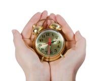 Alarm clock isolated on white background Stock Photos