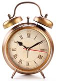 Alarm clock isolated on white. Royalty Free Stock Photography