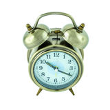 Alarm clock isolated on white background. (clipping path in side Stock Photo
