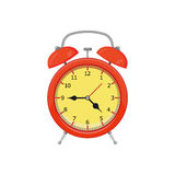 Alarm clock. Isolated on white background. Vector illustration. Eps 10 Stock Photography