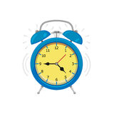 Alarm clock. Isolated on white background. Vector illustration. Eps 10 Royalty Free Stock Photography