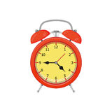 Alarm clock. Isolated on white background. Vector illustration. Eps 10 Stock Image