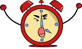 Alarm clock its time to wake up royalty free illustration