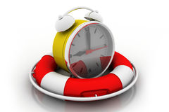 Alarm clock with Life Buoy Royalty Free Stock Images
