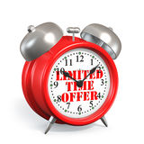 Alarm Clock Limited time offer Concept Stock Photos