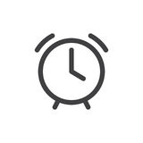 Alarm clock line simple icon Royalty Free Stock Image