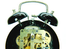 Alarm Clock Mechanism. An old mechanical alarm clock Stock Images