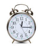 Alarm clock in a metal case Royalty Free Stock Image
