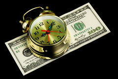 Alarm clock and money 02 Royalty Free Stock Photo