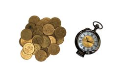 Alarm clock and money. Royalty Free Stock Images