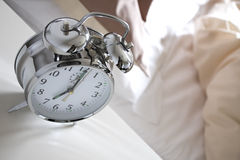Alarm clock in the morning Royalty Free Stock Photography