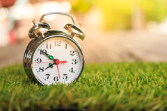 Alarm clock in the morning. Royalty Free Stock Images