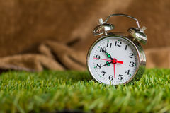 Alarm clock in the morning. Royalty Free Stock Photography