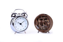 Alarm clock, new and old Stock Photography