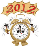Alarm clock and new year  2012. Happy new year, new year's eve party Stock Image