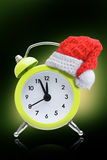 Alarm clock new year concepts Royalty Free Stock Photos