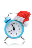 Alarm clock new year concepts Royalty Free Stock Photo