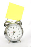 Alarm Clock and Note Stock Image