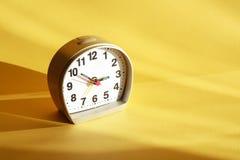 Alarm Clock On Yellow Royalty Free Stock Photography
