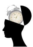 Alarm clock open head Stock Photo