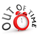 Alarm clock with out of time. Image with hi-res rendered artwork that could be used for any graphic design Royalty Free Stock Photography