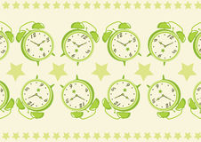 Alarm Clock Pattern Background Stock Photos