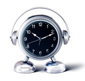 Alarm clock person Stock Image
