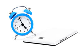 Alarm clock and phone Royalty Free Stock Photography