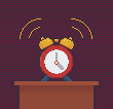Alarm Clock Pixel Art Illustration Royalty Free Stock Photography