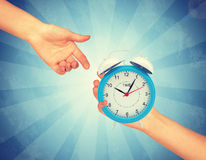 Alarm clock with pointers Stock Photography