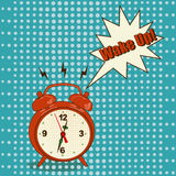 Alarm clock in pop art style Royalty Free Stock Photos