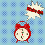 Alarm clock in pop art style Royalty Free Stock Image