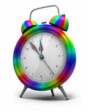 Alarm Clock rainbow Royalty Free Stock Photo